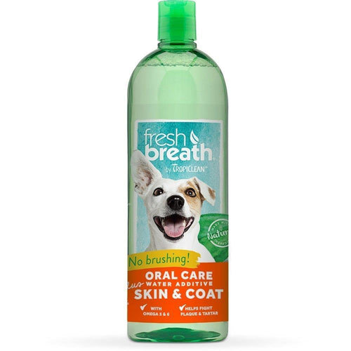 Tropiclean Fresh Breath Oral Care Plus Skin & Coat Water Additive | Pisces Pets