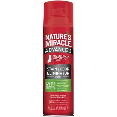 Nature's Miracle Advanced Stain & Odor Eliminator Foam Cats | Pisces Pets