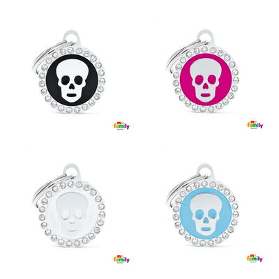 My Family Circle & Skull Pet ID Tag | Pisces Pets