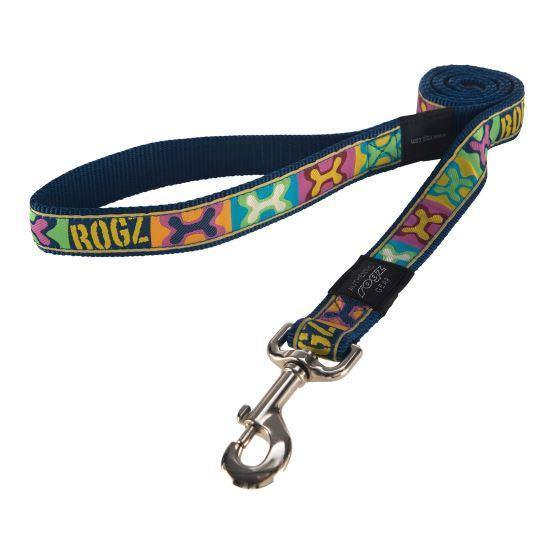 Rogz Jelly Bean Small Fancy Dress Leash - Available in 10 Designs | Pisces Pets