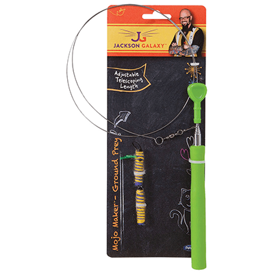 Jackson Galaxy Telescoping Wand with Toy | Pisces Pets