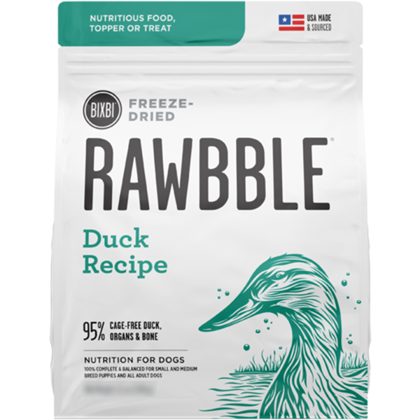 Bixbi Rawbble Freeze Dried Food Duck Recipe - 128g | Pisces Pets