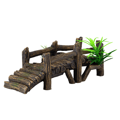 Underwater Treasures Wooden Dock | Pisces Pets