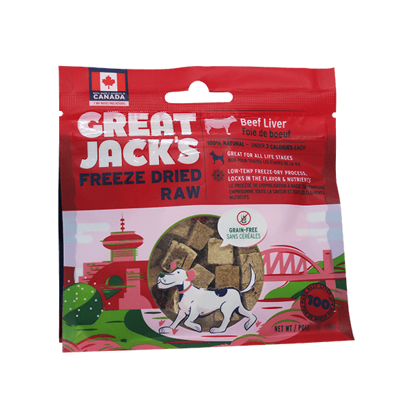 Great Jack's Freeze Dried Raw Beef Liver | Pisces Pets