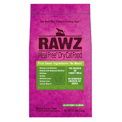 Rawz Dehydrated Chicken, Turkey & Chicken Recipe Cat Food - 1.5Kg | Pisces Pets