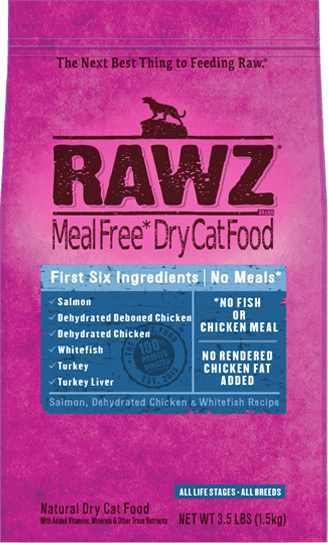 Rawz Salmon, Dehydrated Chicken & Whitefish Recipe Cat Food - 1.5Kg | Pisces Pets