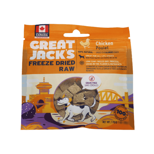 Great Jack's Freeze Dried Raw Chicken | Pisces Pets