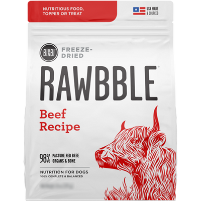 Bixbi Rawbble Freeze Dried Food Beef Recipe - 850g | Pisces Pets
