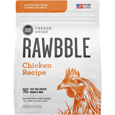 Bixbi Rawbble Freeze Dried Food Chicken Recipe - 850g | Pisces Pets