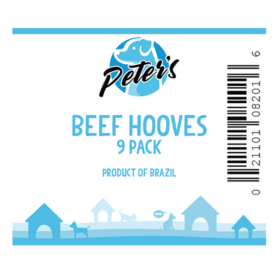 Peter's Beef Hooves - 9 Pack | Pisces Pets