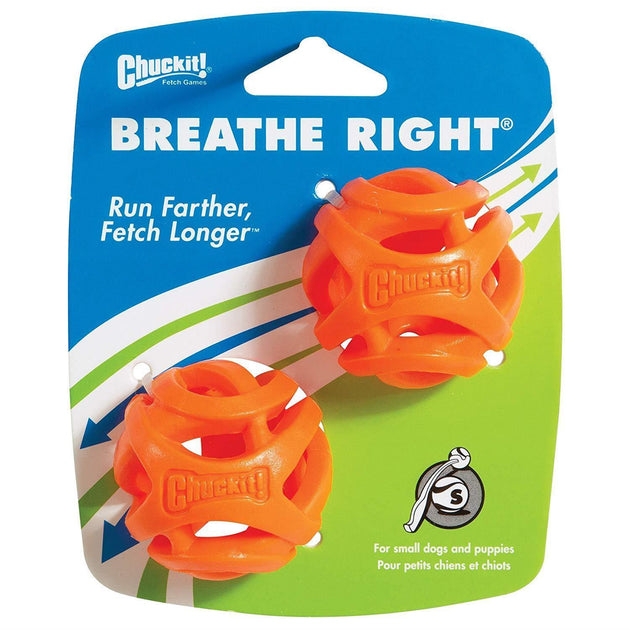 CHUCKT! Breathe Right Ball 2 Pack - Small | Pisces Pets