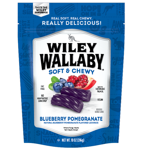 Wiley Wallaby Licorice - Blueberry Pomegranate 10oz
