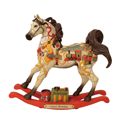 Painted Ponies Figurine - Santa's Workshop | Pisces Pets