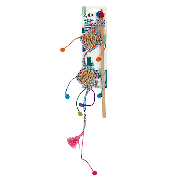 All For Paws Whisker Fiesta Wand Kite | Pisces Pets