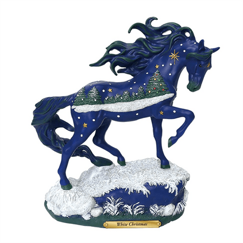 Painted Ponies Figurine - White Christmas | Pisces Pets