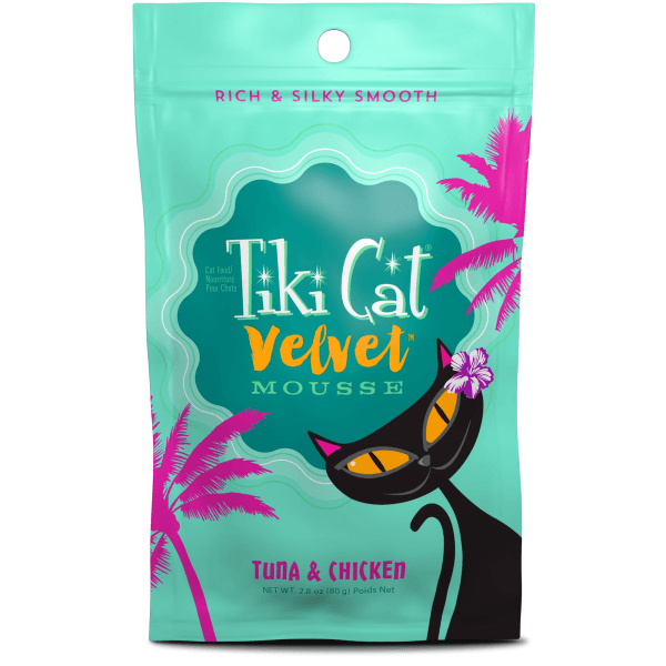Tiki Cat Velvet Mousse Tuna & Chicken - 80 g Pouch | Pisces Pets