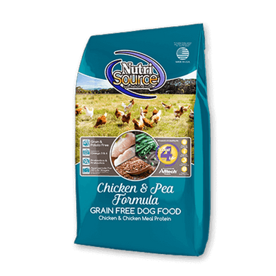 NutriSource Chicken & Pea Grain Free Dog Food | Pisces Pets