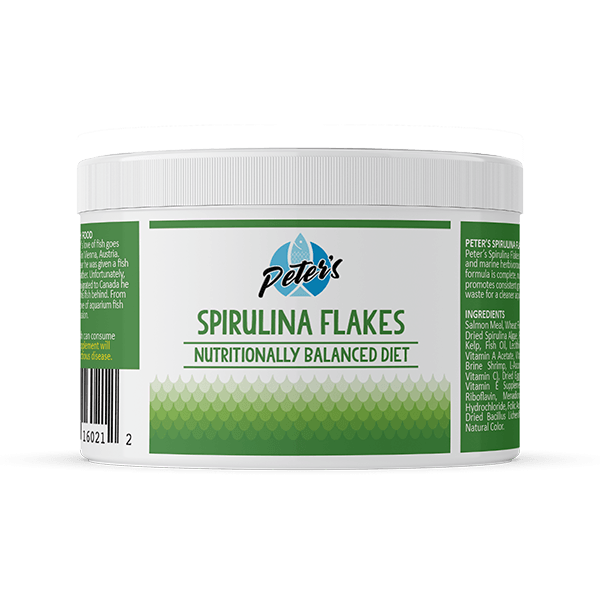 Peter's Spirulina Flakes - Available in 2 Sizes | Pisces Pets