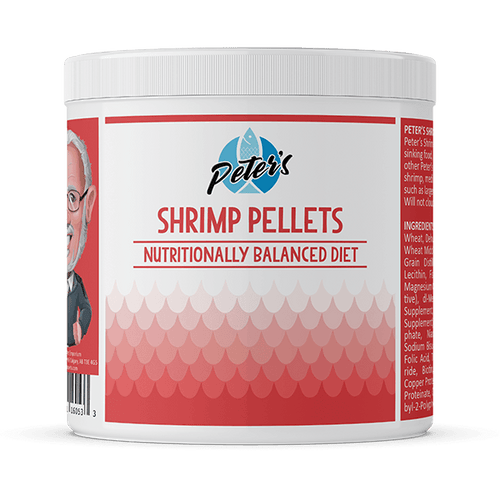Peter's Shrimp Pellets - Available in 3 Sizes | Pisces Pets