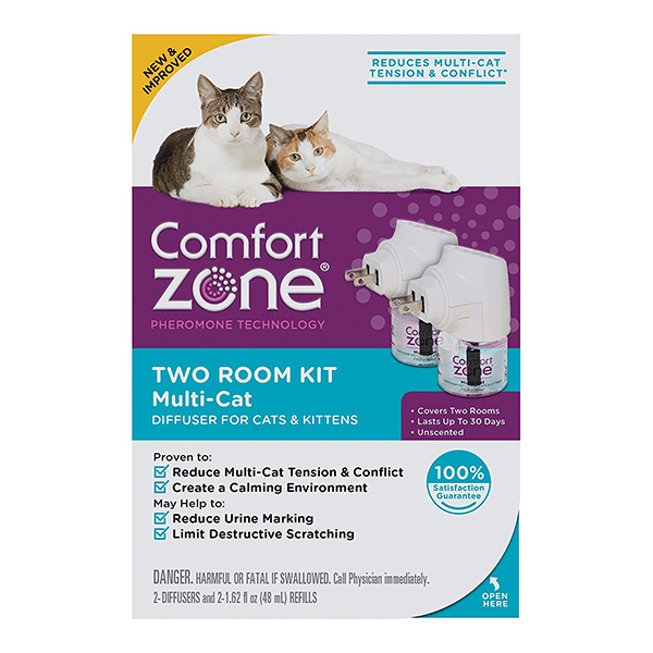 Comfort Zone Multi-Cat Diffuser for Cats & Kittens - 2 Room Kit | Pisces Pets