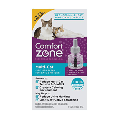 Comfort Zone Multi-Cat Diffuser Refill for Cats & Kittens | Pisces Pets