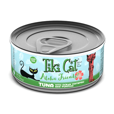 Tiki Cat Aloha Friends Tuna with Ocean Whitefish & Pumpkin - 85g | Pisces Pets