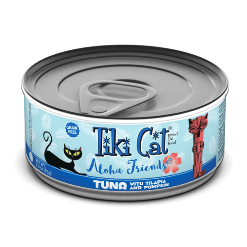 Tiki Cat Aloha Friends Tuna with Tilapia & Pumpkin - 85g | Pisces Pets
