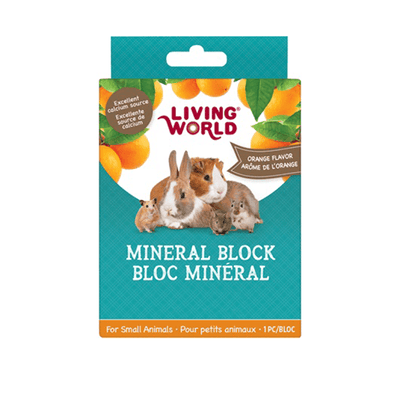 Living World Small Animal Mineral Block - Orange | Pisces Pets