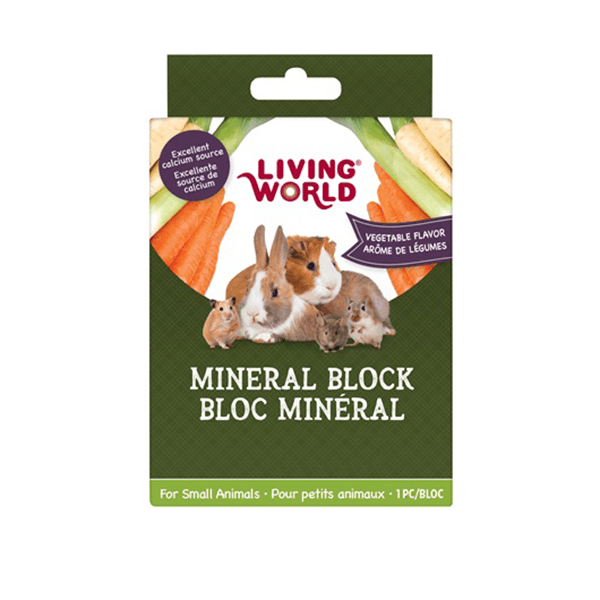 Living World Large Small Animal Mineral Block - Vegetable | Pisces Pets