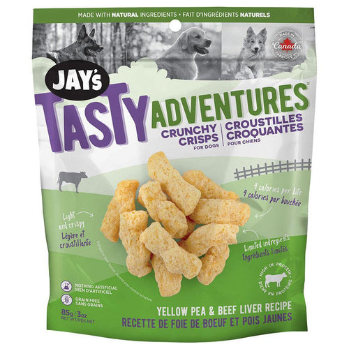 Jay's Tasty Adventures Crunchy Crisps - Yellow Pea & Beef Liver | Pisces Pets