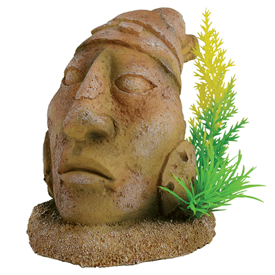Underwater Treasures Ancient Stone Head Statue | Pisces Pets