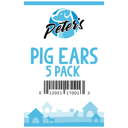 Peter's Pig Ears - 5 Pack | Pisces Pets