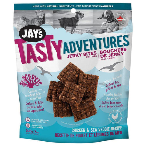 Jay's Tasty Adventures Jerky Bites - Chicken & Sea Veggie | Pisces Pets