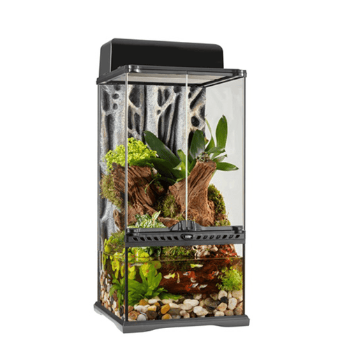 "Exo Terra Mini X-Tall Advanced Paludarium & Rainforest Terrarium - 12"" x 12"" x 24"" 