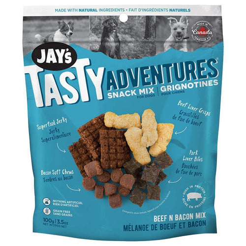 Jay's Tasty Adventures Snack Mix - Beef & Bacon | Pisces Pets