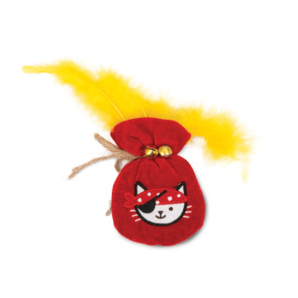 Catit Play Pirates Catnip Toys - Plush Gold Pouch | Pisces Pets
