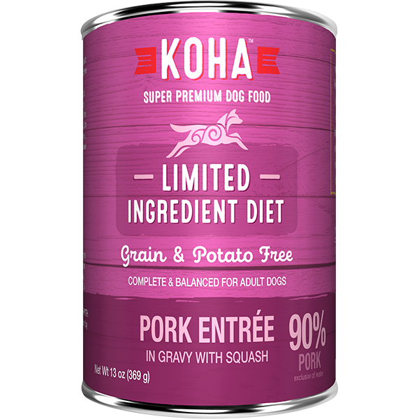 Koha LID Pork Entrée Dog Food - 369 g | Pisces Pets