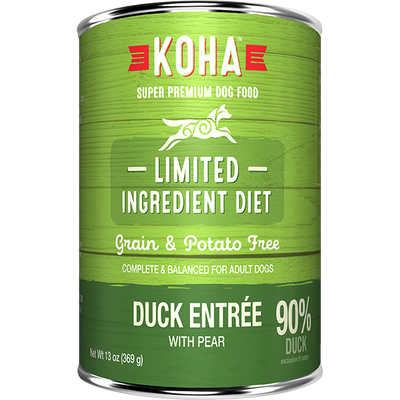 Koha Duck Entrée Dog Food - 369 g | Pisces Pets