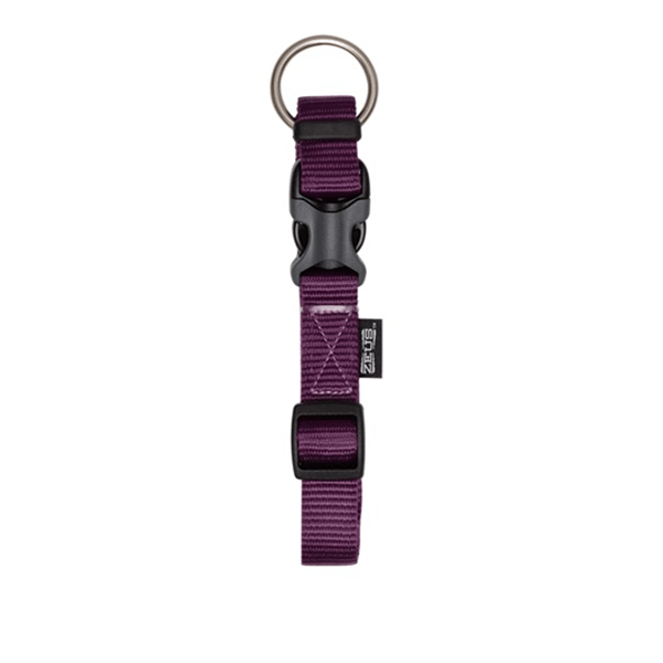 Zeus Royal Purple Adjustable Nylon Collar - Available in 4 Sizes | Pisces Pets