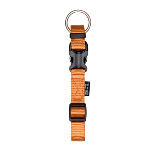 Zeus Tangerine Adjustable Nylon Collar - Available in 4 Sizes | Pisces Pets
