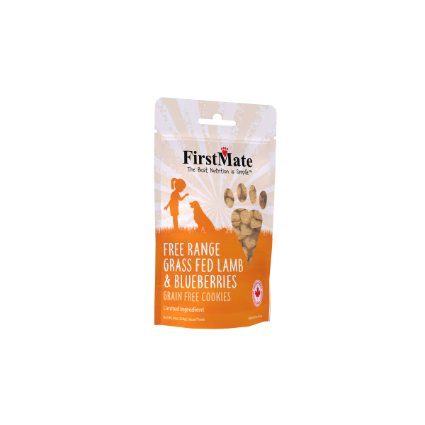 FirstMate Dog LID GF Frange Lamb/Blueberries Cookies- 8oz