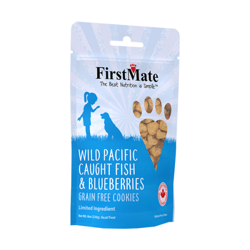 FirstMate Dog LID GF Fish & Blueberries Cookies- 8oz