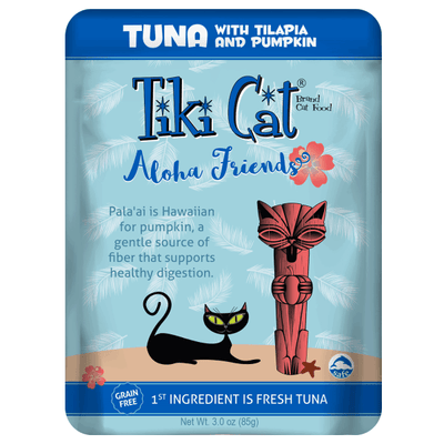 Tiki Cat Aloha Friends Tuna with Tilapia & Pumpkin - 85 g Pouch | Pisces Pets