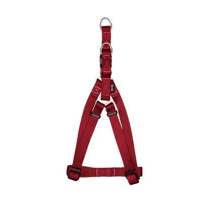 Zeus Deep Red Nylon Step-In Harness - Available in 4 Sizes | Pisces Pets