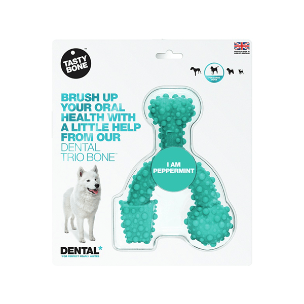 TastyBone Dental Trio Bone - Peppermint | Pisces Pets