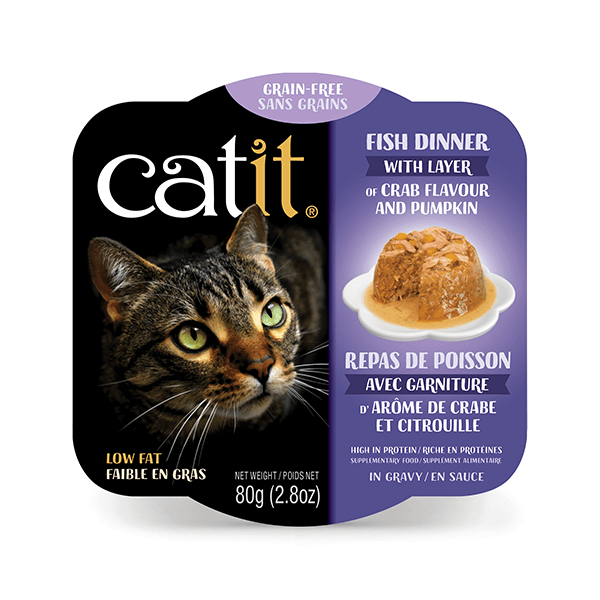 Catit Fish Dinner with Crab Flavour & Pumpkin - 80 g | Pisces Pets