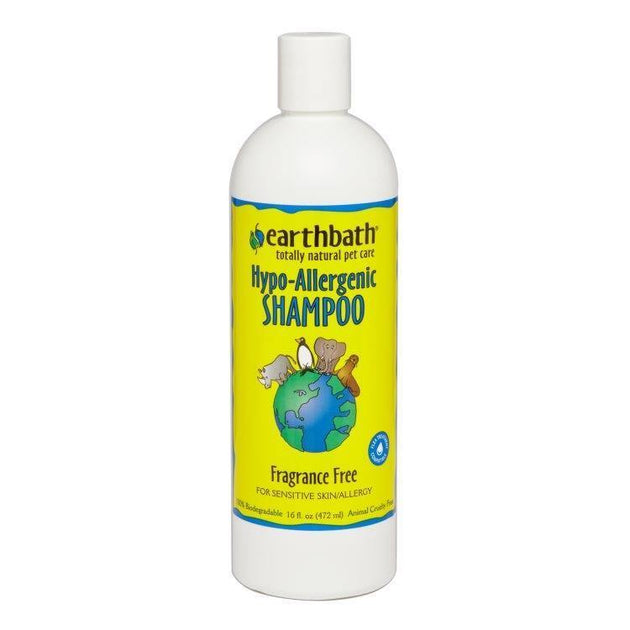 Earthbath Fragrance Free Hypo-Allergenic Shampoo - 473 ml | Pisces Pets