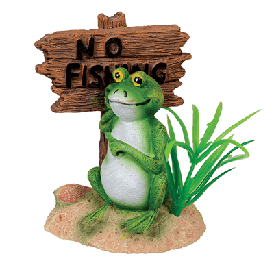"Underwater Treasures ""No Fishing"" Frog 