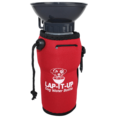 Lap-It-Up Dog Water Bottle - Red | Pisces Pets