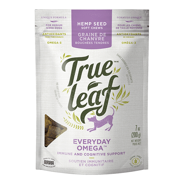 True Leaf Everyday Omega Immune & Cognitive Support Chews - 200 g | Pisces Pets